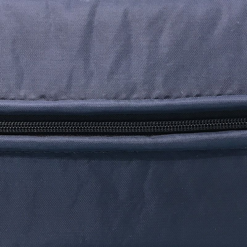 Blue nylon cover with zipper