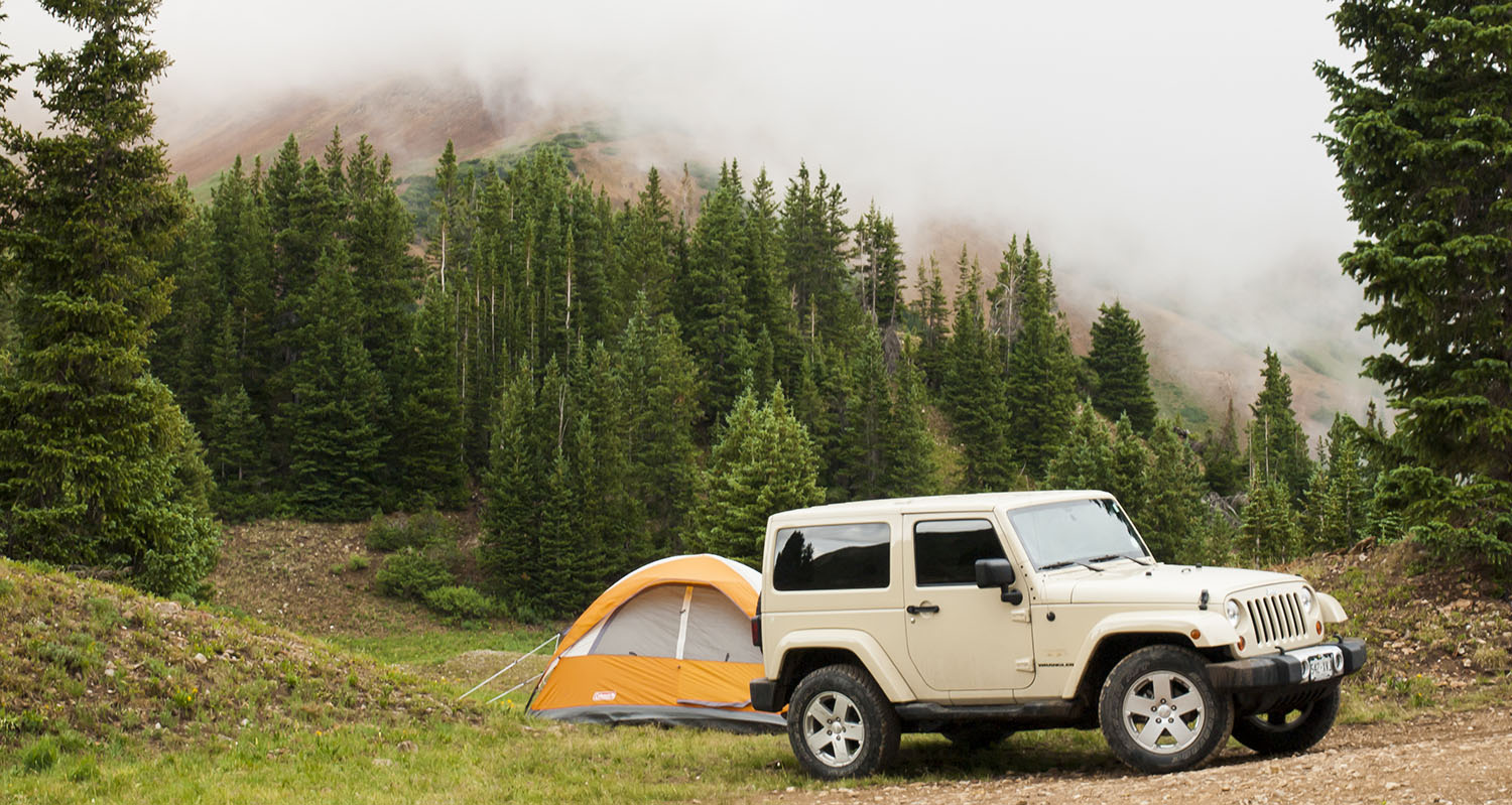 Camping with jeep