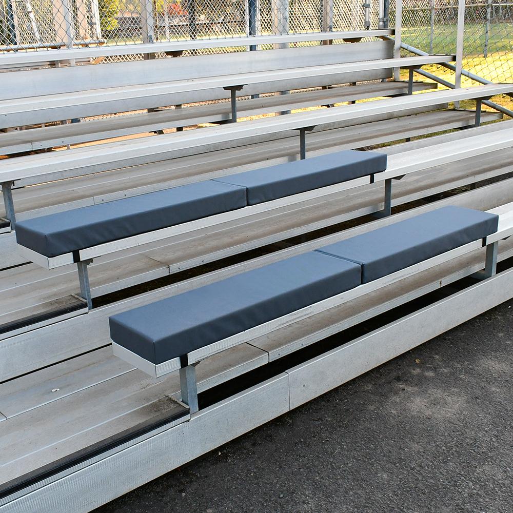 Grey stadium seats